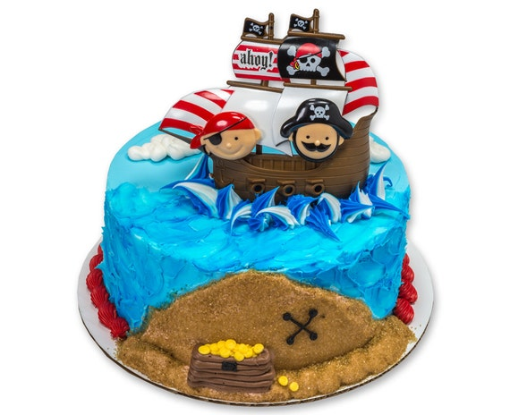 Little Pirates Cake Decorating Kit Topper Decoration Party