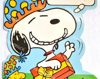 Vintage Snoopy Birthday Card - Unused Large Size