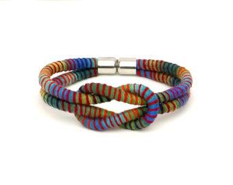Colorful Knot Bracelet, Cord Bracelet, Festival Bracelet, Cotton Bracelet, Textile Bracelet, Knotted Bracelet, Fabric Bracelet, Gift For Her