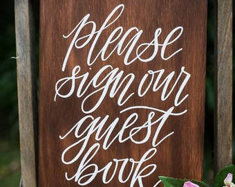 Please sign our guestbook sign | Guest Book Sign | Wedding Décor