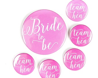 Hen Party Badge | Hen Night Badge | Bride to Be Badge | Pink