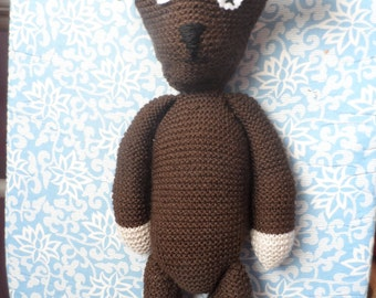 Knitted Mr bean style bear