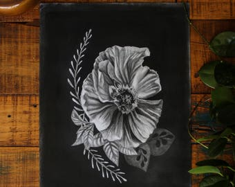 "Charcoal ""poppy"" original artwork"