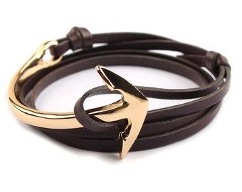 Miansai style genuine leather bracelet COLOR Coffee