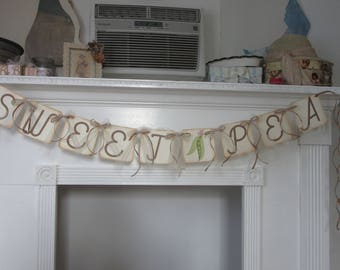 "Baby Shower ""Sweet Pea"" Shower Banner"