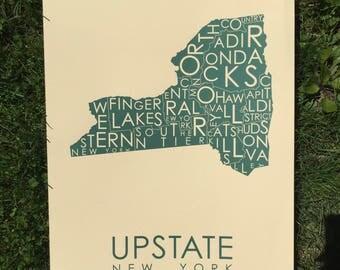 Upstate regions in GREEN