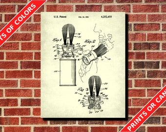 Shaving Brush Patent Print Vintage Barber Poster Salon Wall Art Barber Gift Barbershop Decor Hairdressing Salon Poster