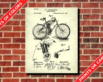 Pennington Motorcycle Patent Print, Vintage Motor Cycle Poster, Workshop Decor, Pennington Motorbike Blueprint