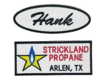 Hank Hill Strickland Propane Embroidered Iron On Patch Set
