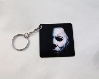 Halloween Michael Myers Inspired Keychain