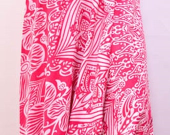 Ethnic Abstract Floral Yoga Genie Boho Aladdin Baggy Harem Pant Pink 12 14 16