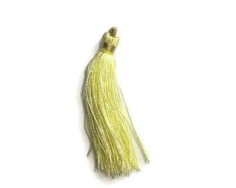 Light Yellow Silk Tassel