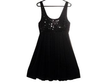 Vintage Black Babydoll Dress