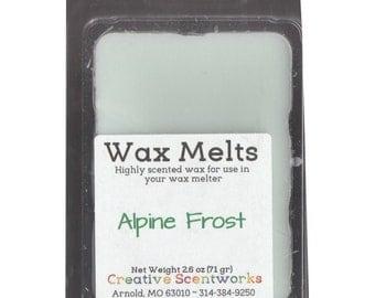 Alpine Frost Scented Wax Melts, Wax Cubes, Wax Tart, Wickless Candle, Melting Wax, Wax Melt, Scent Bar, Scent Cube, Wax Bar