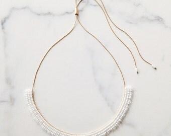 Adjustable Fringe Necklace