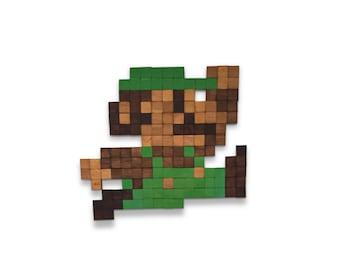Nintendo's Luigi Wooden Wall Art