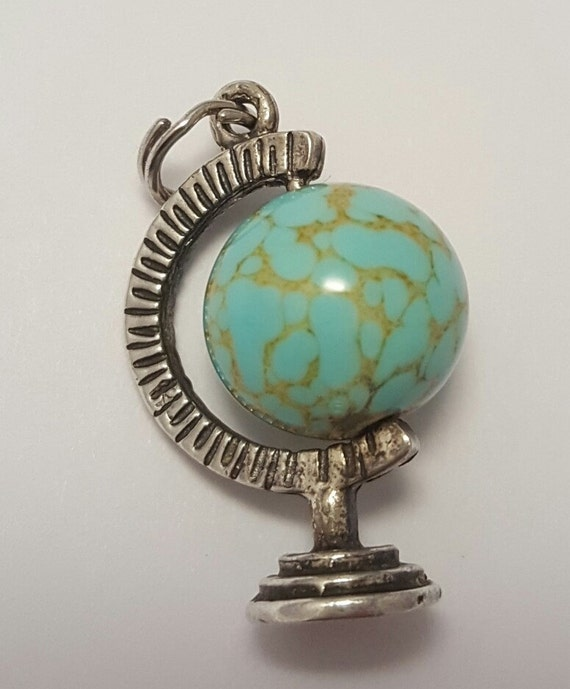 Vintage Danecraft Sterling Globe Charm-925
