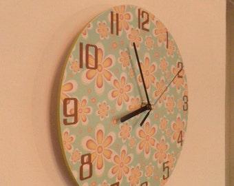 Modern wall clock. Unique wall clock. Modern wall clock - Yellow - grey - white - dial plate - quiet clockwork - digitally printed