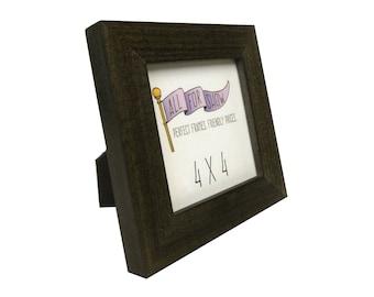 4x4 Frame, Warm Gray Frame, 4x4 Picture Frame, Photo Frame, Picture Frame, 4x4 Photo Frame, Gray Wood Frame, Square Frame, Instagram Frame