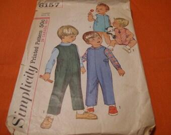 Simplicity Pattern, Toddlers, Vintage Pattern, Clothing Pattern, Simplicity 6157, Simplicity 1965, Vintage Sewing Pattern, Clothing Vintage