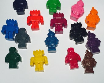 Robot Crayons! Party favors. Robots