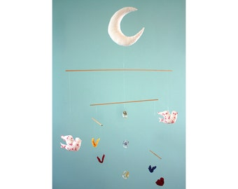 """Light as a butterfly"" baby mobile to order - custom"