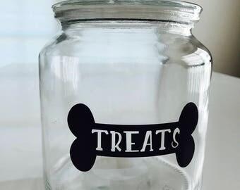 Dog Treat Jar, Dog Treat Container, Dog Treat Holder, Dog Treat Canister, Custom Dog Treat Jar, Personalized Dog Treat Jar, Dog Lover