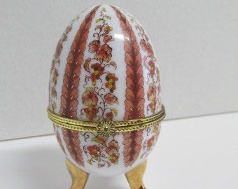 Vintage Porcelain Egg Trinket Box