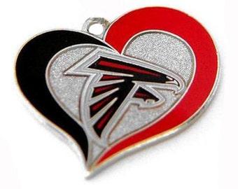 Atlanta Falcons Heart Charm