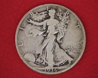 2 Silver Walking Liberty Half Dollars Junk Silver Coins Legible Dates NO Slicks or Major Damage 2.99 Flat Rate Shipping