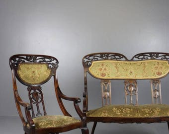 Art Nouveau Sofa & Chair
