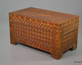 Oriental Geometric Blanket Box