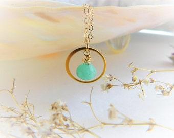 Amazonite Necklace - Amazonite Pendant - Blue Amazonite Gemstone - Amazonite Jewelry - Gemstone Jewelry