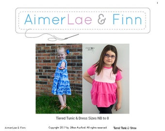 AimerLae and Finn Tiered Tunic & Dress size nb to 8