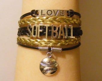 Softball bracelet, softball jewelry, baseball bracelet, baseball jewelry, sports bracelet, sports jewelry, fashion bracelet, fashion jewelry