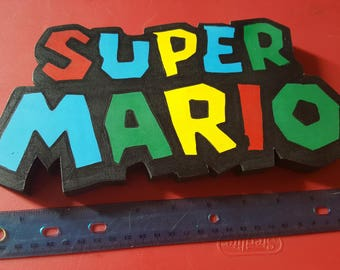Super Mario World Logo Wall Art