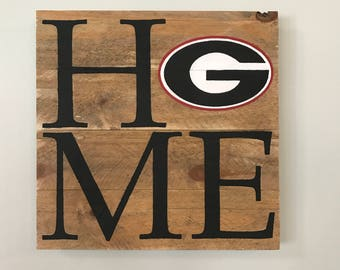 University of Georgia HOME Sign  // Custom // Gifts for Her // Gifts for Him // Wedding // Pallet // Georgia // College