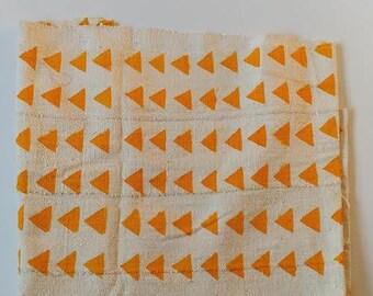 Hand Made African Mud Cloth Bambara From Mali - Natural/Gold  41 x 65