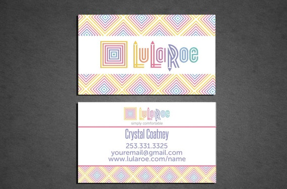 Printed lularoe business card full color by crystalcoatney for Lularoe name cards