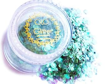 Glow in the Dark Glitter - Siren Scale by GLO TATTS