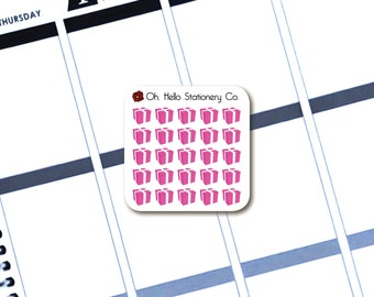 25 Period Tracking Stickers  - Planner Stickers for Erin Condren Life Planners - Q4