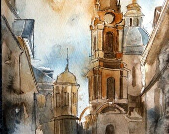 Vienna- original watercolor