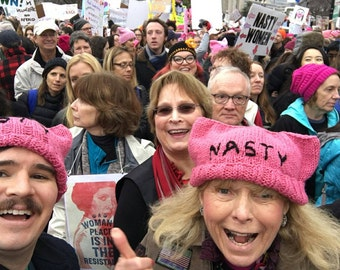 Nasty Woman #Pussyhat for the Womens March on Washington- Hat of Resistance