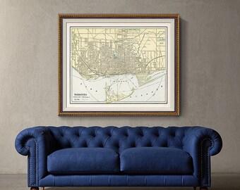 Old Toronto Map 1901, Toronto Map, City Map Print, Toronto Canada Map, Antique Map- CP122
