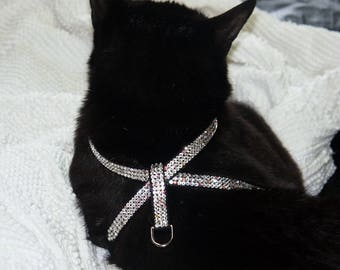 Krisybelle Crystal Harness Small, maltese harness, yorkie harness, shih-tzu harness, bichon harness, poodle, rhinestone harness, cat harness