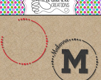 Instant Digital Download: Open Circle Monogram Frame Svg and Png