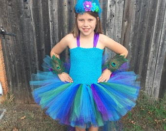 Peacock costume, peacock tutu, peacock dress, peacock tutu dress, peacock, halloween costume, pageant outfit, peacock pageant, glam pageant