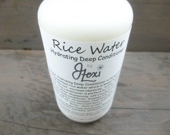 Rice Water Hydrating Deep Conditioner, fermented rice water, rice water, handmade conditioner, rice water conditioner, fermented