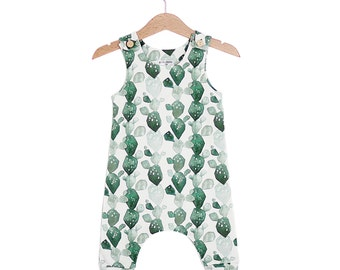 Watercolor Cactus Organic Cotton Baby Romper