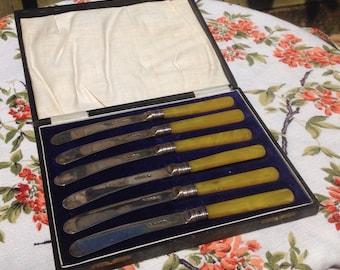 Vintage butter knives.